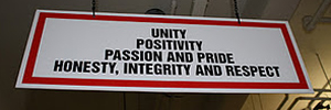 Unity Postivity Pasion and Price Honesty, Integrity and Respext