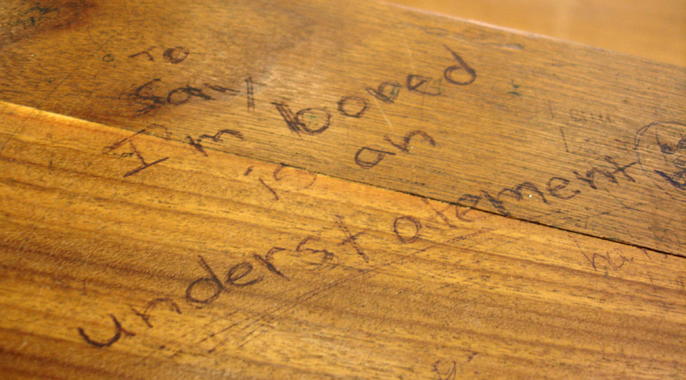 School Desk In Classroom