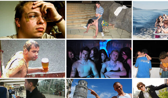 Different types of lads on holiday