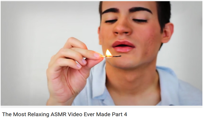 ASMR video on YouTube