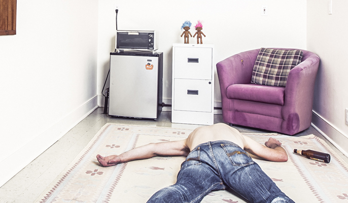student starting university collapsed in uni room