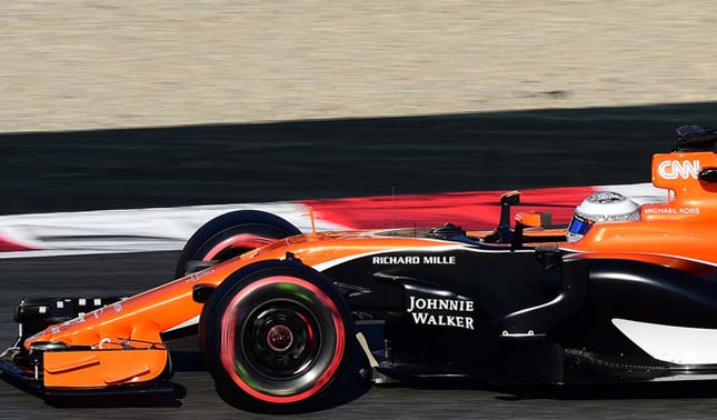 McLaren MCL32 orange livery Formula 1 car