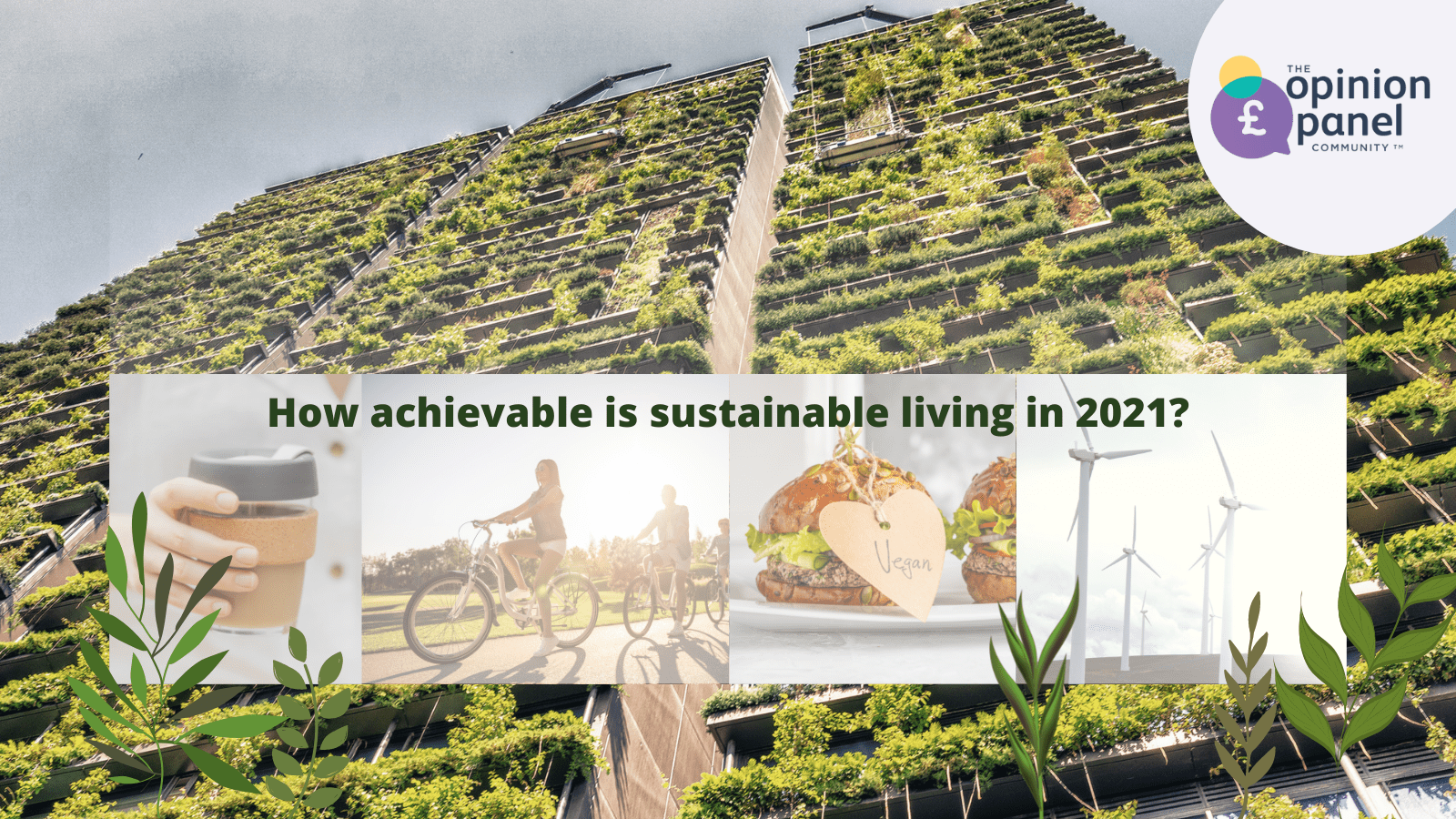 Sustainable living 2021 title image