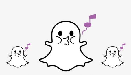 snapchat shazam singing ghost