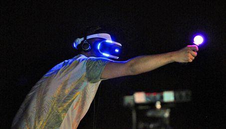 gamer using Playstation VR