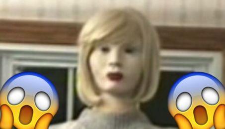 sacry clown robot mannequin