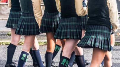 teenagers in private school uniform
