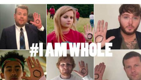 celebrities taking part in #IAMWHOLE mental health campaign