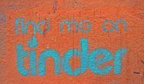 find me on tinder graffiti