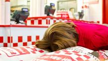 part time job at uni - young person working in five guys
