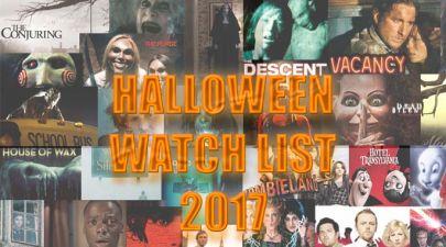 Halloween scary film watch list 2017
