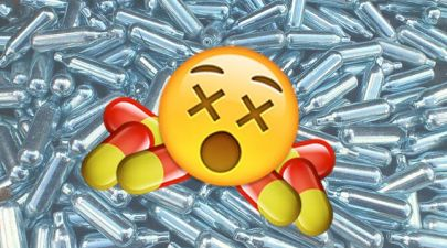 laughing gas canisters pill emoji