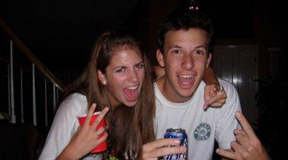 students drinking at uni